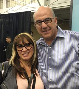 Jeff Hoffman, founder of Priceline, with Carmen Ballering